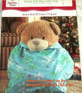 Wholesale table bag BIODEGRADABLE Christmas tree removal bag, hot sale drawstring chirstmas santa sack gift bag from china suppliers