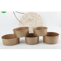 China Microwavable Customised Kraft Paper Bowls , Small Paper Bowls With Lids for sale