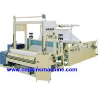 China Full Automatic Paper Roll Slitting Rewinding Machine For Napkin / Facial Tissue on sale