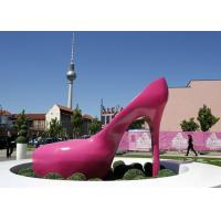 Wholesale Pink Heels Stainless Steel Sculpture Art Painted Corrosion Resistant Urban Sculpture from china suppliers