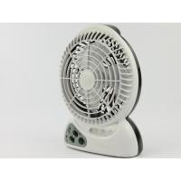 Plastic 2300mAh LED Rechargeable Fan 3 PCS LED With Charging Cable