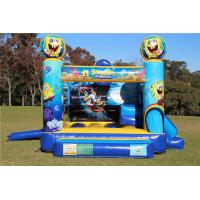Wholesale Yellow 0.55 PVC Tarpaulin Spongebob Jumping Castle , Inflatable Bounce House Moonwalk For Kids from china suppliers