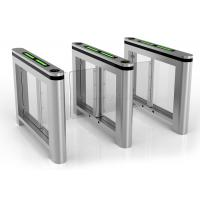 Wholesale Dual Swing Barrier Gate Turnstile High-end Establishments IR Sensor Pedestrian from china suppliers