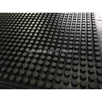 Wholesale Front And Grooved Back Cow Rubber Mats , Non Slip Rubber Matting With 3-5MPa from china suppliers