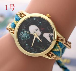 Buy cheap New Brand Handmade Braided Friendship Bracelet Watch GENEVA Hand-Woven Watch Ladies Quarzt Watches relogio feminino from wholesalers