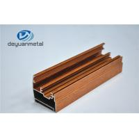 Wholesale Wooden Grain Aluminium Extrusion Profile Electrophoresis / Sand Blasting from china suppliers