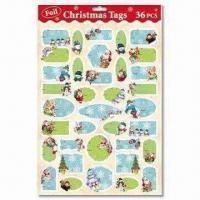 Wholesale Christmas Present Tags with 36 Pieces Per Sheet from china suppliers