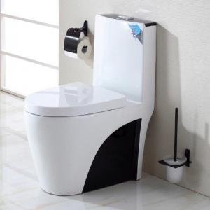 China Popular Bathroom Design Ceramic Decorated Toilet Set High