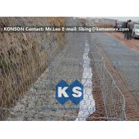 Wholesale Zinc Coated Wire Mesh Fence , Stainless Steel Wire Galvanized Hexagonal Gabions from china suppliers