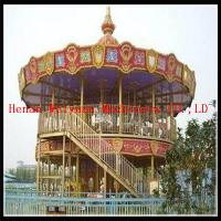 double deck carousel two floor merry go round for sale for sale