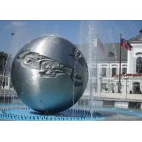 Wholesale Silver Sphere Water Feature / Sphere Water Fountain Outdoor For Large City Decoration from china suppliers