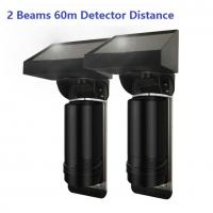 Buy cheap 60m Sensor Distance Solar Powered 2 Beam Wirless IR Infrared Barrier Detector from wholesalers