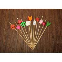 Wholesale Barbecue Decorative Bamboo Skewers , Bamboo Cocktail Sticks Eco Friendly from china suppliers