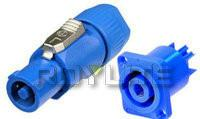 Wholesale Blue / White Stage Lighting Accessories AC 3 Pole Powercon Connector 16A from china suppliers
