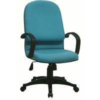 China Stationary Fabric Executive Chair , High Back Cloth Office Chairs With Wheels on sale