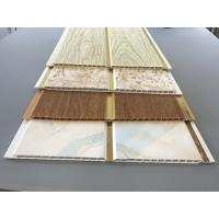 Buy cheap 10 Inch Latin America Ceiling Decorative PVC Panels With Golden Lines from wholesalers
