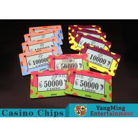 China 40 / 43mm Diameter Ceramic Casino Chips Bright Colors With Custom Printed Design for sale