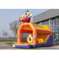 Wholesale 2 In 1 Inflatable Combo Bouncers Yellow Clown Childrens Bouncy Castle With Slide from china suppliers