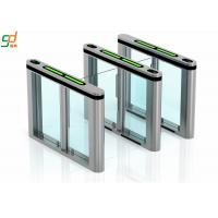 Wholesale Glass Arm Supermarket Swing Gate Turnstile , Slimlane Barriers Access Control from china suppliers