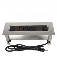 Wholesale Multi - Functional Clamshell Flip Up Sockets / Office Desk Mounted Electrical Outlet from china suppliers