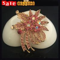 China Wedding Brooch Bouquet ,Large Crystal Brooches,Big Wedding Party Dress Suit Brooch Pin on sale
