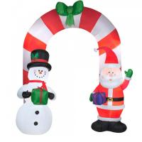 Buy cheap Customized Beautiful Nice Holiday Party Decoration Inflatable Christmas Arch for Santa from wholesalers