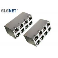 Buy cheap Connector RJ45 Without Magnetics 2x4 Stacked 8 Ports DIP Mounting With LED from wholesalers