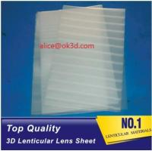 Wholesale PET lenticular materials thinner lens 51x71cm,0.58mm 100LPI lens Sheet 3D Lenticular  film materials for UV offset print from china suppliers