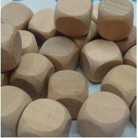 Wholesale blank dice 20mm natural dice wooden dice blank from china suppliers