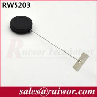 Wholesale Adhesive Metal Plate Round Pull Box , Retractable Security Cable For Ipad  from china suppliers