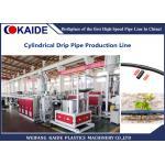 China PE Drip Lateral Pipe Extruder Machine /Drip Pipeline Making Machine 50m/min servo punching for sale