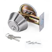 Wholesale High Security SUS304 Single Cylinder Deadbolt Door Locks Plated Nickel Finish from china suppliers