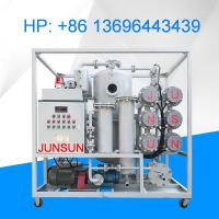 Buy cheap JUNSUN-ZYD-100 Dielectric Oil Purifier, 6000 LPH Transformer Oil Purification System from wholesalers