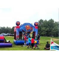 Wholesale 0.55mm Plato PVC Spiderman Inflatable Bouncer , Commercial Bounce House For Backyard from china suppliers