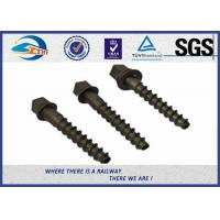 Buy cheap High Hardness 5.6 Grade 35# Railway Screw Spikes , DIN Standard from wholesalers