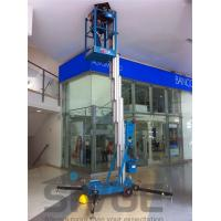 Wholesale 10m Single Mast Blue Hydraulic Lift Ladder 120kg Load For Office Buildings from china suppliers