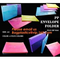 Wholesale pp envelope pocket folder custom cute printed a4 plastic document carrying file folder bag from china suppliers