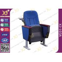 Buy cheap Soild Wood Auditorium Theater Seating With Back Writing Pad / Aluminum Alloy Legs from wholesalers