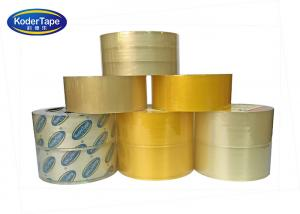 China Carton Sealing Clear Or Super Clear Thickness 35 Mic Bopp Adhesive Tape on sale