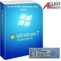 Wholesale Windows 7 Professional Pro COA Product Key Sticker OEM online Activation from china suppliers