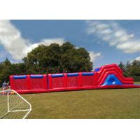 Wholesale Outdoor Games 0.55mm PVC Red Giant Assault Courses Inflatable Bouncy Obstacle Course from china suppliers