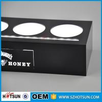 Quality Acrylic illuminated led bottle base for 4 bottles, lighting liquor bottle display for sale