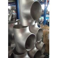 Quality Carbon Steel / Stainless Steel Butt Weld Fittings Steel Pipe Tee with ISO9001 for sale