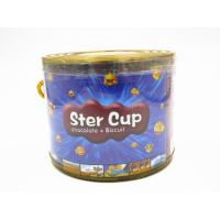 Wholesale 4g Star Chocolate Cup In PVC Jar Sweety Chocolate With Crispy Cookie from china suppliers