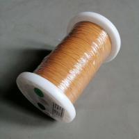 China Yellow Color Triple Insulated Wire 0.15mm Self Solderable TIW Wire Ultra Thin Copper Wire on sale