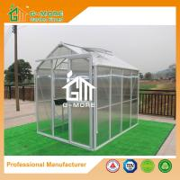 China 258X191X218CM White Color Imperial Series Single Door Polycarbonate Greenhouse on sale