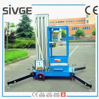 Wholesale 10m Single Mast Blue Aerial Working Platform Aluminium Alloy With 120kg Load from china suppliers