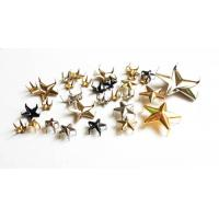 Wholesale Eco-Friendly Brass Nailheads Star Shape ; Long Leg Pronged Nail Heads; Metal Nailhead for Leather Work from china suppliers