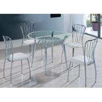 China Russia round glass modern dining table set T422 on sale
