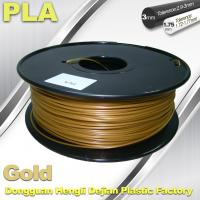 Wholesale 1.75mm /  3.0mm Gold PLA 3d Printer Filament 100% biodegradable from china suppliers